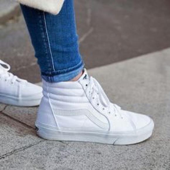 Vans Shoes   Vans Canvas Sk8hi White